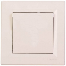 EPH0100123 Одноклавішний вимикач Asfora IP20. Колір Кремовий