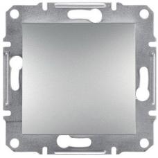 EPH0100161 Одноклавішний вимикач Asfora IP20. Колір Алюміній