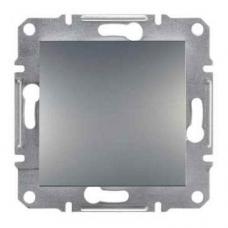 EPH0100162 Одноклавішний вимикач Asfora IP20. Колір Сталь