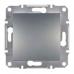 EPH0400162 Одноклавишный переключатель Asfora IP20. Цвет Сталь