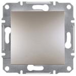 EPH0700169 Одноклавишный кнопочный выключатель Asfora 10А. Цвет Бронза