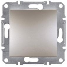 EPH0400169 Одноклавишный переключатель Asfora IP20. Цвет Бронза