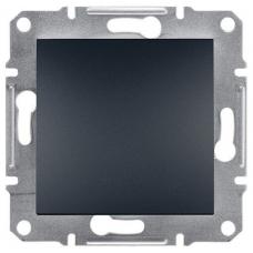 EPH0100171 Одноклавішний вимикач Asfora IP20. Колір Антрацит