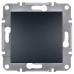 EPH0700171 Одноклавишный кнопочный выключатель Asfora 10А. Цвет Антрацит