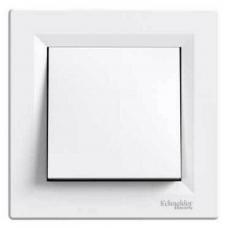 EPH0100221 Одноклавішний вимикач Asfora IP44. Колір Білий