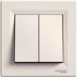 EPH0300123 Двухклавишный выключатель Asfora IP20. Цвет Кремовый