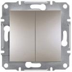 EPH0600169 Двоклавішний перемикач Asfora IP20. Колір Бронза