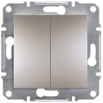 EPH0300169 Двухклавишный выключатель Asfora IP20. Цвет Бронза