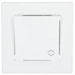EPH0400121 Одноклавишный переключатель Asfora IP20 проходной. Цвет Белый
