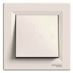 EPH0700123 Одноклавишный кнопочный выключатель Asfora 10 А. Цвет Кремовый
