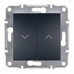 EPH1300171 Выключатель для жалюзи Asfora IP20. Цвет Антрацит