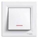 EPH1400121 Выключатель с подсветкой Asfora IP20. Цвет Белый