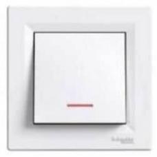 EPH1500121 Переключатель с подсветкой Asfora IP20. Цвет Белый