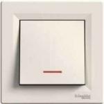 EPH1500123 Переключатель с подсветкой Asfora IP20. Цвет Кремовый