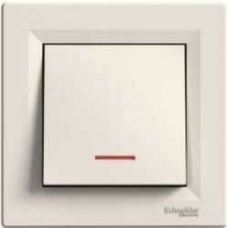 EPH1600123 Кнопочный выключатель с подсветкой Asfora IP20. Цвет Кремовый