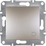 EPH1500161 Переключатель с подсветкой Asfora IP20. Цвет Алюминий