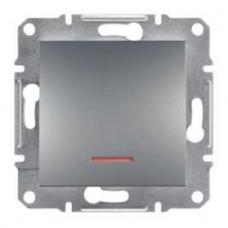 EPH1500162 Переключатель с подсветкой Asfora IP20. Цвет Сталь