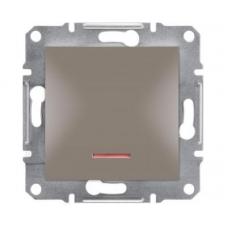 EPH1500169 Переключатель с подсветкой Asfora IP20. Цвет Бронза