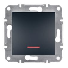 EPH1500171 Переключатель с подсветкой Asfora IP20. Цвет Антрацит