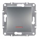 EPH1600161 Кнопковий вимикач з підсвіткою Asfora IP20. Колір Алюміній