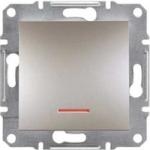 EPH1600169 Кнопковий вимикач з підсвіткою Asfora IP20. Колір Бронза