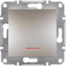 EPH1600169 Кнопочный выключатель с подсветкой Asfora IP20. Цвет Бронза