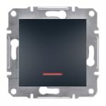 EPH1600171 Кнопочный выключатель с подсветкой Asfora IP20. Цвет Антрацит