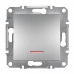 EPH1400161 Выключатель с подсветкой Asfora IP20. Цвет Алюминий