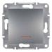 EPH1400162 Выключатель с подсветкой Asfora IP20. Цвет Сталь