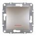 EPH1400169 Выключатель с подсветкой Asfora IP20. Цвет Бронза