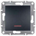 EPH1400171 Вимикач з підсвіткою Asfora IP20. Колір Антрацит