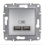 EPH2700261 USB-розетка Asfora 2.1 A (2 входа). Цвет Алюминий