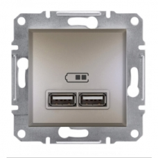 EPH2700269 USB-розетка Asfora 2.1 A (2 входа). Цвет Бронза