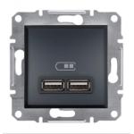 EPH2700271 USB-розетка Asfora 2.1 A (2 входа). Цвет Антрацит