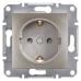 EPH2900269 Розетка одинарная с заземлением и защитными шторками Asfora 16А. Цвет Бронза