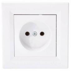 EPH3000121 Розетка одинарная Asfora 16А. Цвет Белый