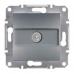 EPH3200262 TV розетка проходная 4 dB Asfora. Цвет Сталь
