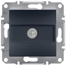 EPH3200171 TV розетка концевая 1 dB Asfora. Цвет Антрацит