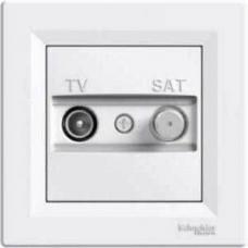 EPH3400221 Розетка TV-SAT проходная 4 dB Asfora. Цвет Белый