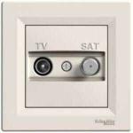 EPH3400123 Розетка TV-SAT концевая 1 dB Asfora. Цвет Кремовый
