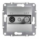EPH3400261 Розетка TV-SAT проходная 4 dB Asfora. Цвет Алюминий