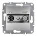 EPH3400161 Розетка TV-SAT концевая 1 dB Asfora. Цвет Алюминий