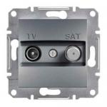 EPH3400262 Розетка TV-SAT проходная 4 dB Asfora. Цвет Сталь