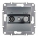 EPH3400162 Розетка TV-SAT концевая 1 dB Asfora. Цвет Сталь