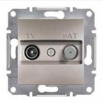 EPH3400269 Розетка TV-SAT проходная 4 dB Asfora. Цвет Бронза