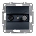 EPH3400271 Розетка TV-SAT проходная 4 dB Asfora. Цвет Антрацит