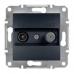 EPH3400171 Розетка TV-SAT концевая 1 dB Asfora. Цвет Антрацит