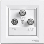 EPH3600121 Розетка TV-SAT-SAT концевая 1 dB Asfora. Цвет Белый