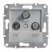 EPH3600161 Розетка TV-SAT-SAT концевая 1 dB Asfora. Цвет Алюминий
