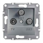 EPH3600162 Розетка TV-SAT-SAT концевая 1 dB Asfora. Цвет Сталь